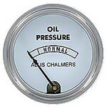 Oil Pressure Gauge, (0-80 PSI) With ALLIS CHALMERS Logo