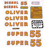 Oliver Super 55 Diesel: Mylar Decal Set