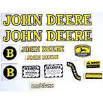 JD B Styled Hood 1947-52: Mylar Decal Set