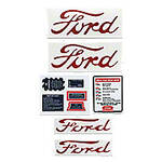 Ford NAA, Jubilee - 9 Piece Mylar Decal Set