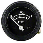 12 Volt Negative Ground Fuel Gauge With Black Bezel