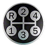 Shift Pattern Insert For Our IHS242 Gear Shift Knob