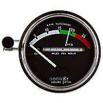 Tachometer with white needle