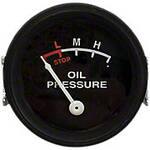 Oil Pressure Gauge (0-25 PSI) - Dash mounted, Black Face