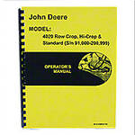 Operators Manual Reprint: JD 4020 Standard and Rowcrop; gas, LP, diesel