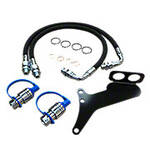 Single Hydraulic Remote Hose, Coupler, and Bracket Kit