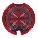 Red Glass Tail Light Lens