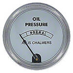 Oil Pressure Gauge, White Face (0-45 PSI)