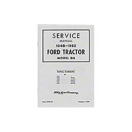 1948-1952 Ford Shop Service Manual, Model 8N