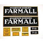 Farmall F-12: Mylar Decal Set