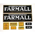 Farmall F-14: Mylar Decal Set