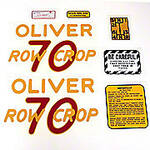 Oliver 70 Rowcrop: Mylar Decal Set
