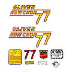 Oliver 77 Rowcrop: Mylar Decal Set