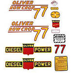 Oliver 77 Rowcrop Diesel: Mylar Decal Set