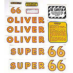 Oliver Super 66: Mylar Decal Set