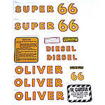 Oliver Super 66 Diesel: Mylar Decal Set