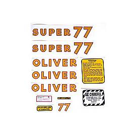 Oliver Super 77: Mylar Decal Set
