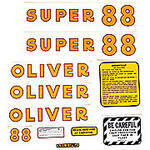 Oliver Super 88: Mylar Decal Set