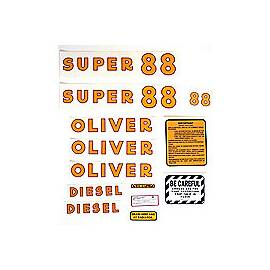 Oliver Super 88 Diesel: Mylar Decal Set