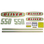 Oliver Early 550 Gas: Mylar Decal Set