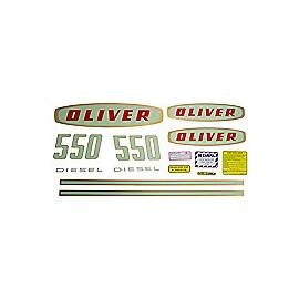 Oliver Early 550 Diesel: Mylar Decal Set
