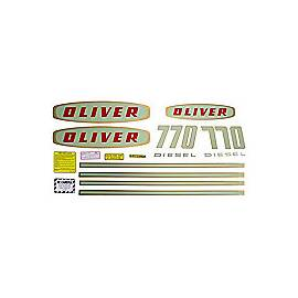 Oliver Early 770 Diesel: Mylar Decal Set