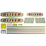 Oliver Early 880 Gas: Mylar Decal Set