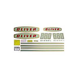 Oliver Early 880 Diesel: Mylar Decal Set