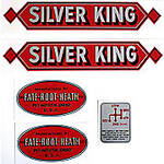 Silver King Red: Mylar  Decal Set