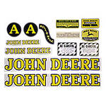 JD A Styled Hood 1947-52: Mylar Decal Set