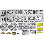 IH Super W4 1953-54: Mylar Decal Set