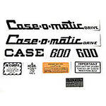 Case 600 Case-O-Matic: Mylar Decal Set