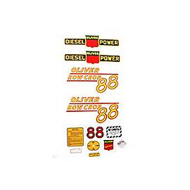 Oliver 88 Rowcrop Diesel: Mylar Decal Set