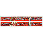 Ford 871 Select-O-Speed: Mylar Decal Set