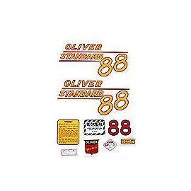 Oliver 88 Standard: Mylar Decal Set