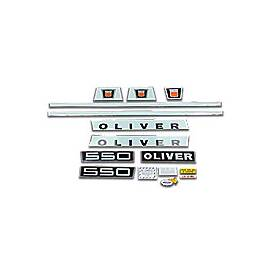 Oliver Late 550: Mylar Decal Set