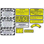 IH 330 Gas: Mylar Misc Decal Set --  12 Pieces