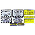 IH 340 Gas: Mylar Misc Decal Set --  9 Pieces