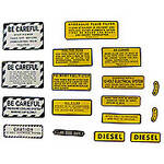 IH 460 Diesel: Mylar Misc Decal Set --  17 Pieces