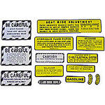 IH 560, 660 Gas: Mylar Misc Decal Set --  14 Pieces
