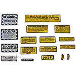 IH 560, 660 Diesel: Mylar Misc Decal Set --  15 Pieces