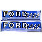 Ford 2000 Before 1965: Mylar Decal Hood Set