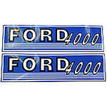 Ford 4000 Before 1965:  Mylar Decal Hood Set