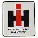 "IH Logo: Mylar Decal -- 2"" X 2-1/4"""