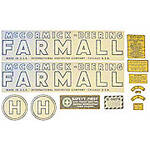 1939 - 1944 McCormick Deering H Vinyl Decal Set