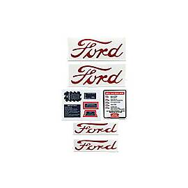 Ford NAA, Jubilee - 9 Piece Vinyl Decal Set