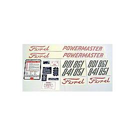 Ford 801 - 861 Series 1958 - 1962: 20-Piece Vinyl Decal Set