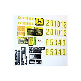 JD 2510, 2520, 3010 +, Complete Mylar Decal Set