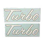 IH 1206: Vinyl Cut Turbo Decals,  Set 0f 2