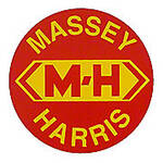 Massey Harris Round Decal